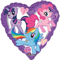 "My Little Pony Heart Foil Balloons (17"")"
