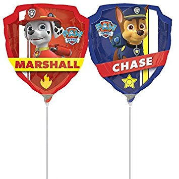 "Paw Patrol Chase Badge Foil Balloons (25"") Balloons Balloon Town - Party Boulevard Singapore Balloons Helium"