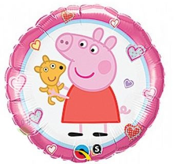 "Peppa Pig Teddy Foil Balloons (18"") Balloons Balloon Town - Party Boulevard Singapore Balloons Helium"
