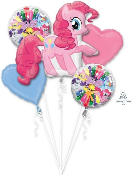 My Little Pony Pinkie Pie Birthday Bouquet Balloons (5 pieces) Balloons Balloon Town - Party Boulevard Singapore Balloons Helium