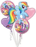 My Little Pony Birthday Bouquet Balloons (5 pieces)