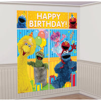 Sesame Street Elmo Party Wall Decorating Kit (5 Piece)