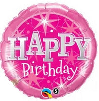 "Sparkle Red Happy Birthday Foil Balloons (18"")"