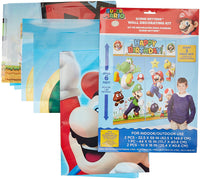 Super Mario Happy Birthday Party Wall Decorating Kit (5 Piece) 1.5m x 1.6m