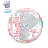 "Tiny Tatty 1st Birthday Girl Balloons (18"")"