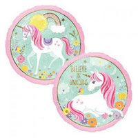 "Unicorn Magical Foil Balloons (18"") - 2-sided prints Balloons Balloon Town - Party Boulevard Singapore Balloons Helium"