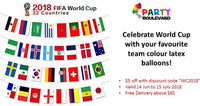 World Cup 2018 Latex Balloons (Team Colours)