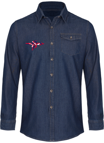 Men's Denim Dagger Shirt