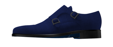 Blue Suede Double Monk