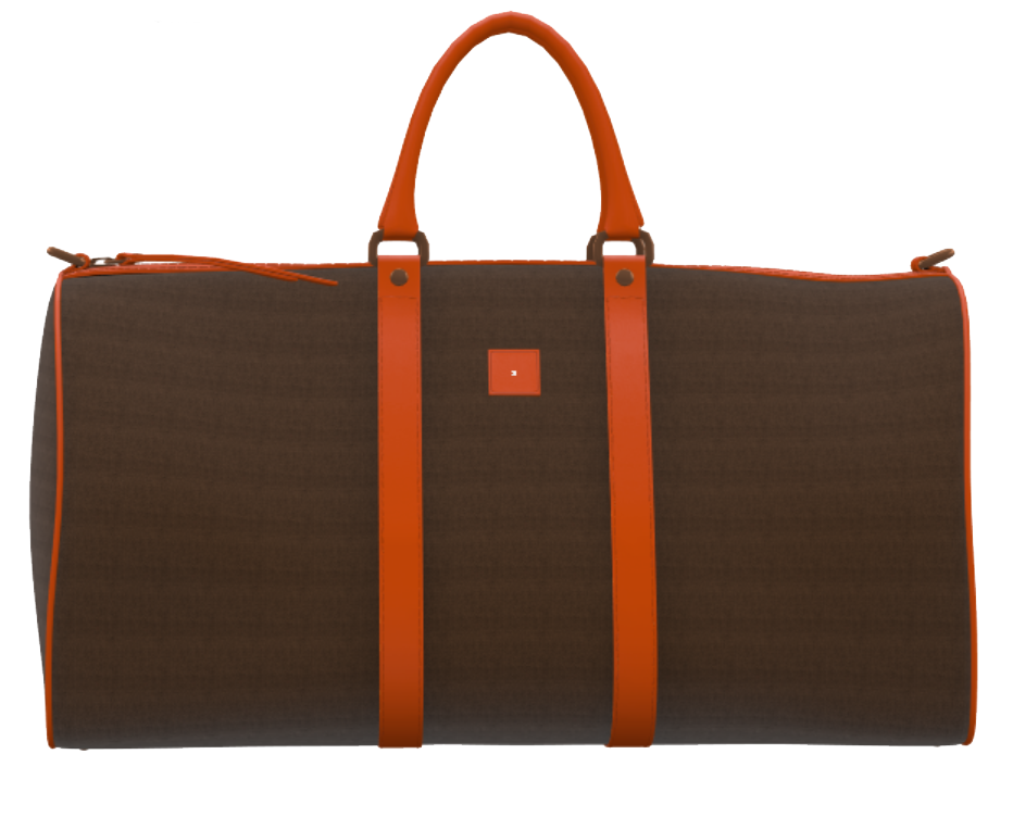 Brown and Orange Weekender Duffel