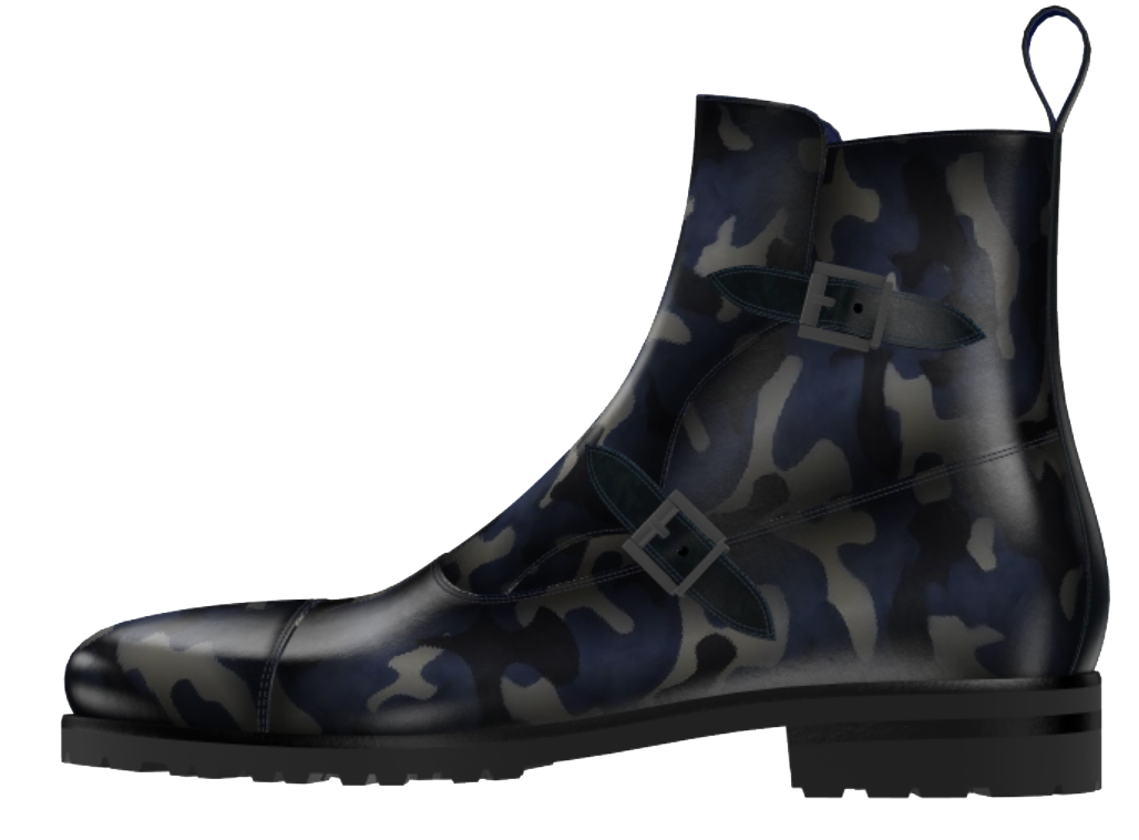 Blue Camo Comando Boot