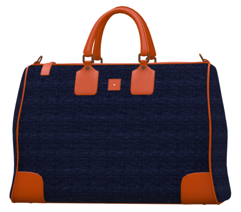 Royal Blue and Orange Mini Duffel