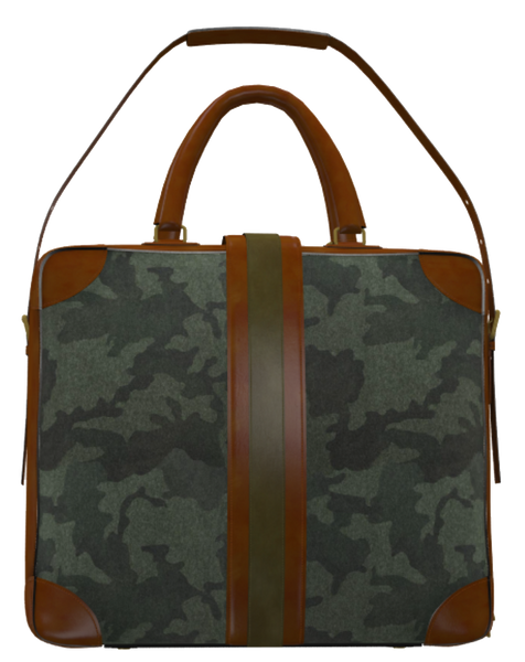 Green Camo and Mocha Brown Messenger