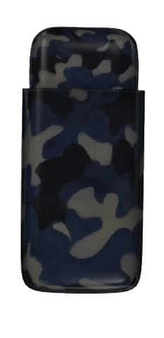 Blue Camo Leather Cigar Holder