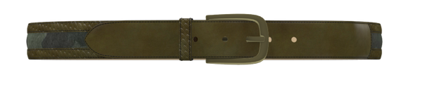 Army Green and Green Camo D-Buckle Belt