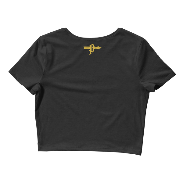 Golden 'Calf' Women's Crop Tee