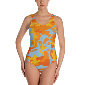 Orange Camo One Piece