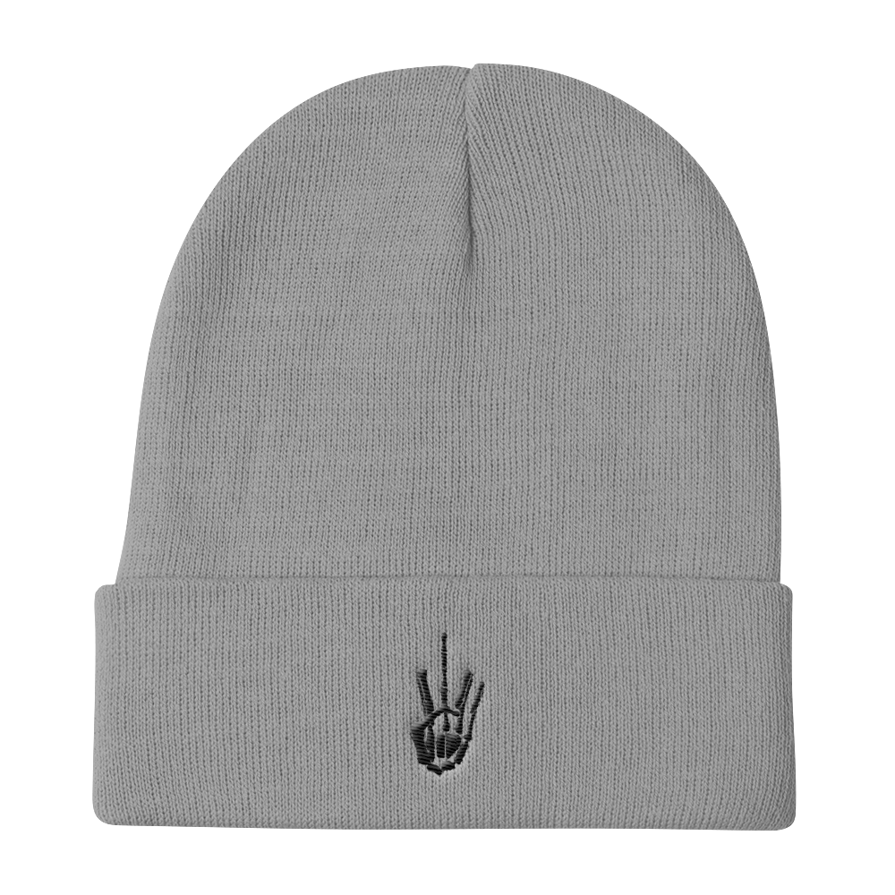 Skeleton Middle Finger Beanie - AmericanPoet