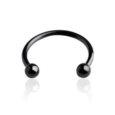 16g Black IP over 316L Surgical Steel Horseshoe