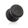 Black Organic Natural Wood Faux Plugs
