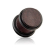 Red Brown Organic Natural Wood Faux Plugs
