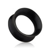 Black Silicone Double Flare plugs.