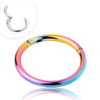 Rainbow IP over 316L Surgical Steel Segment Ring