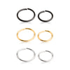 18G 316L Surgical Steel Eternal Nose hoop. (6 Pack)