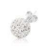 .925 Sterling Silver Ferido Crystal Ball Earrings