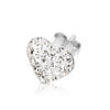 .925 Sterling Silver Ferido Crystal Heart Earrings