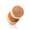 Maple Light brown wood screw on Faux Plugs