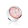 Druzy Quarts Pinkish Tone High Polish 316L Surgical Steel Internal Screw on plug. Sold by piece, MUST buy 2 for pair.