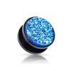 Druzy Blue Quartz Acrylic Screw on plugs