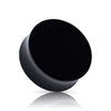 Solid black UV Double Flare tunnel Plugs