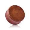 Organic Dark Brown Maple Wood Double Flare Plugs.
