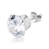 9mm .925 Sterling Silver round CZ ear studs. (sold by pair)