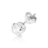 4mm .925 Sterling Silver round CZ ear studs. (sold by pair)