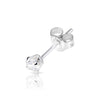 3mm .925 Sterling Silver round CZ ear studs. (sold by pair)