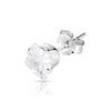 5mm .925 Sterling Silver square CZ ear studs (sold by pair)