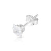 3mm .925 Sterling Silver square CZ ear studs (sold by pair)