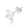 6mm .925 Sterling Silver Square Earrings (pair)