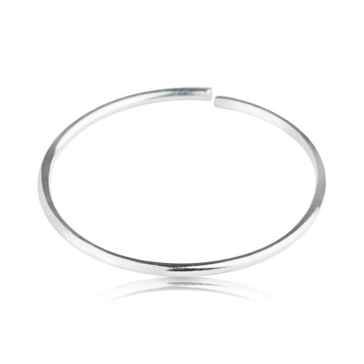 .925 Sterling Silver Eternal nose hoop.