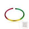 Rasta Color IP over .925 Silver Eternal nose hoop