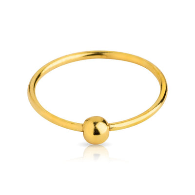 Gold Plated over .925 Nose Hoop with ball.