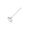.925 Sterling Silver Nose Pin with AAA Clear Color CZ Stone.