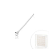 .925 Sterling Silver 1mm Silver Ball Nose Pin.