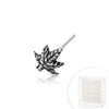 .925 Sterling Silver Marijuana Leaf Nose Bone.