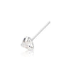 .925 Sterling Silver Triangle CZ Nose Pin.