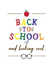 Back to school chalkboard template