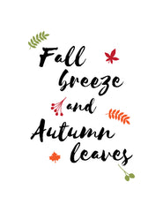 Fall breeze chalkboard template